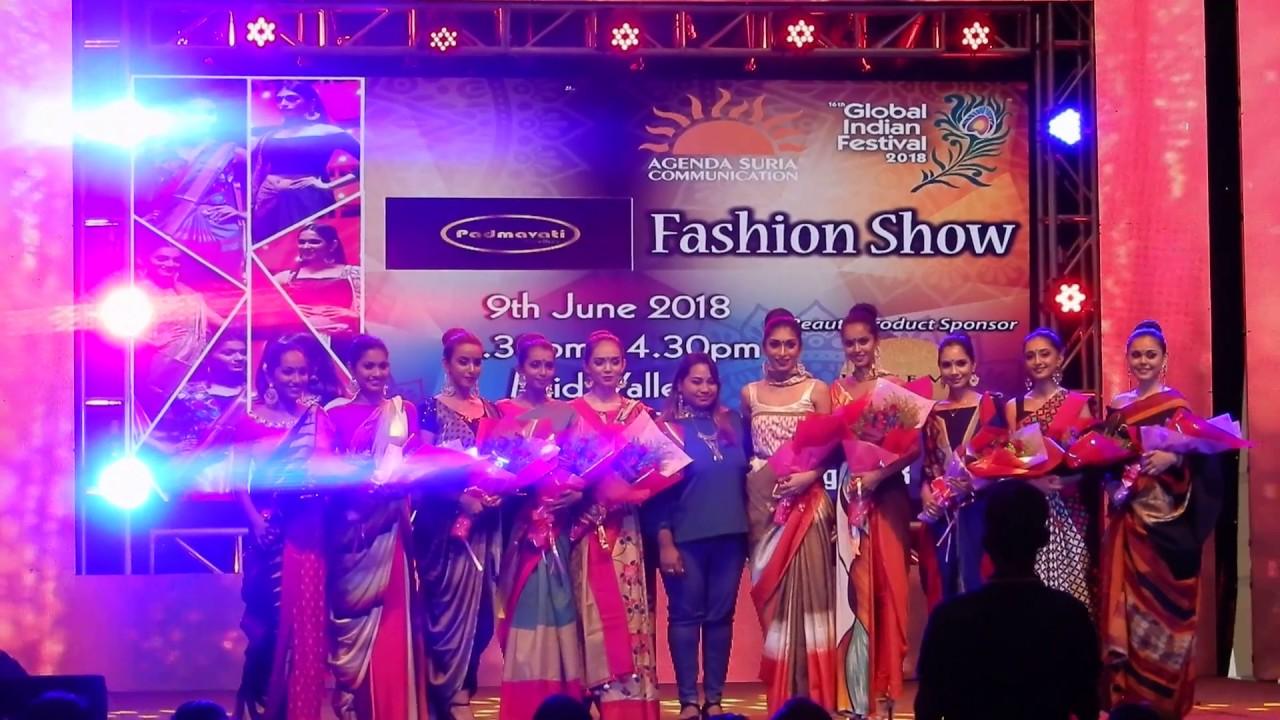 Fashion Show Global Indian Festival 2018 Youtube