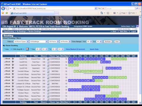 Meeting Room Booking software: 60 second booking - YouTube