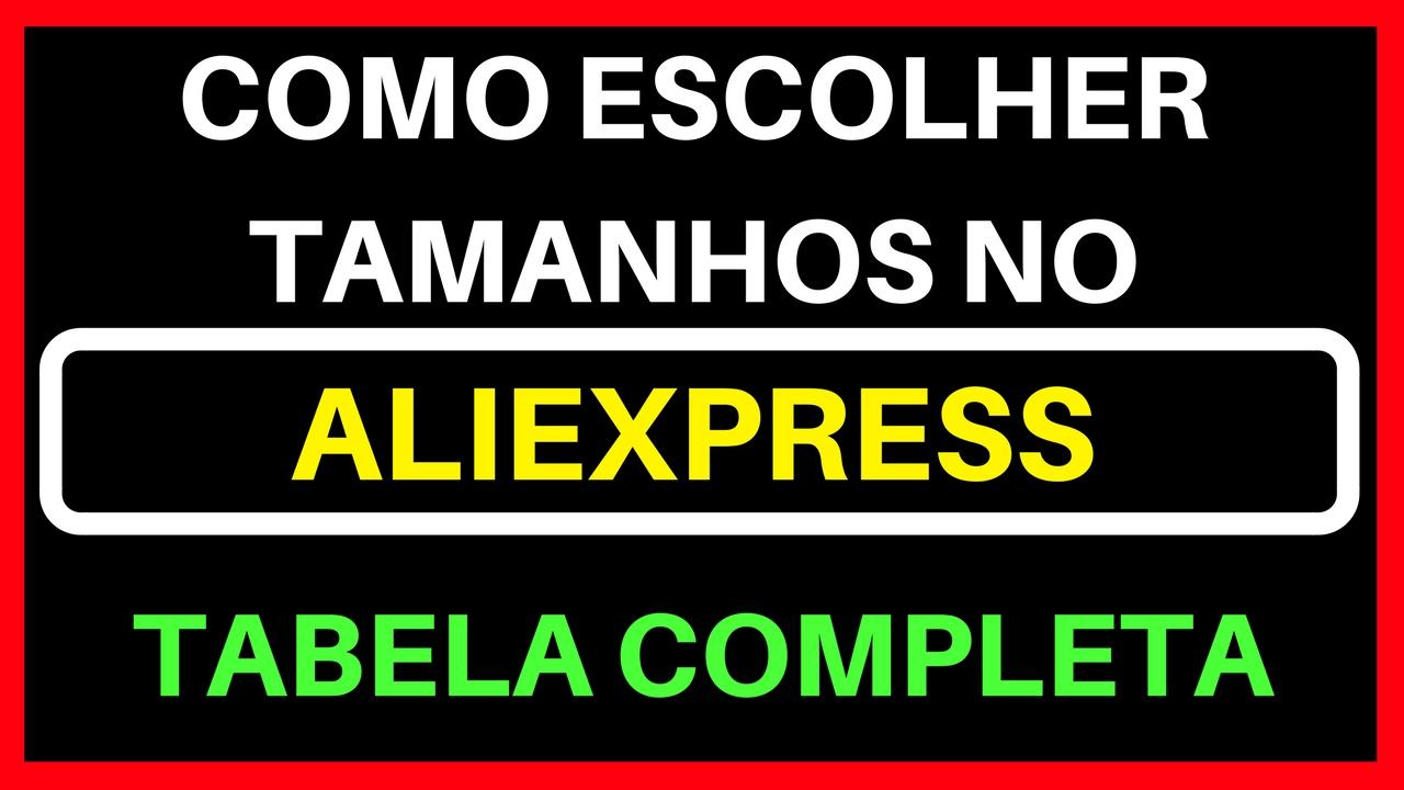 92c6fdfe8 Como Escolher Tamanhos no Aliexpress ( Tabela Completa ) - YouTube