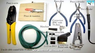 Comment fabriquer/monter un Câble Vidéo Péritel vers BNC avec câble coaxial KX6 75 ohms