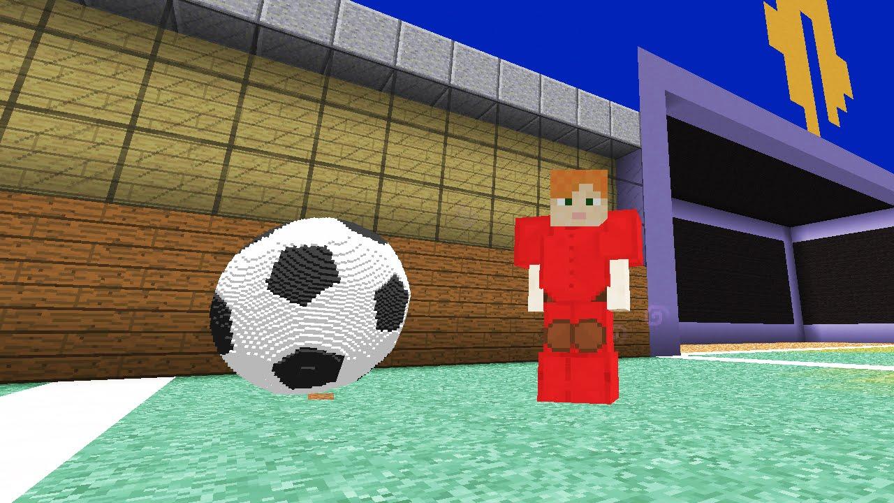 картинки майнкрафт футбол многих детей