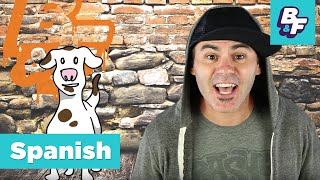 Spanish language basics - action verbs with BASHO & FRIENDS