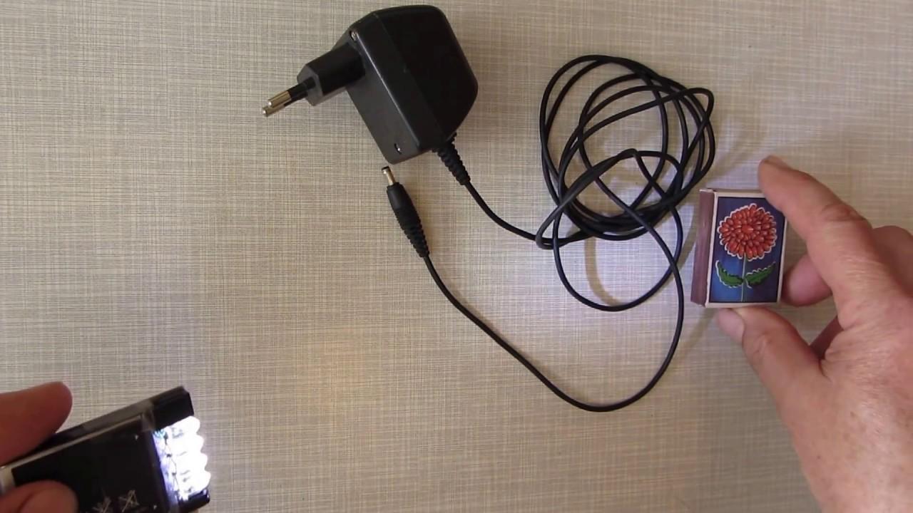самодельный фонарик на аккумуляторе от сотового телефона