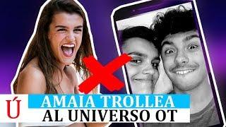 El 'troleo' de Amaia tras los rumores de ruptura con Alfred después de su paso por Operación Triunfo