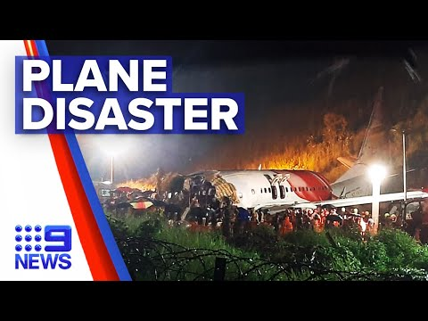 Plane with COVID-19 evacuees skids off runway in India   9 News Australia