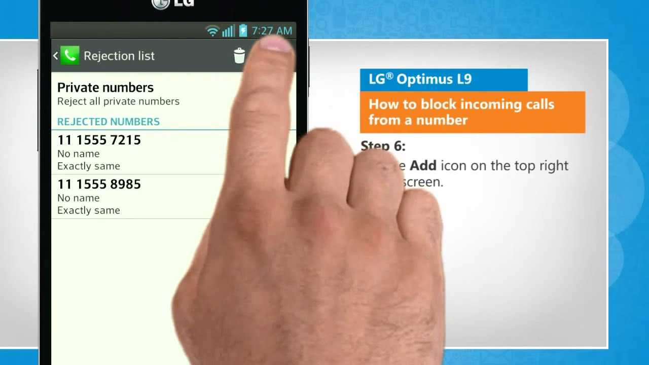 how to block all incoming calls on iphone how to block incoming calls from a number in lg 174 optimus 4602