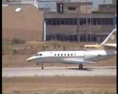 Libyan Arab Airlines Falcon 50