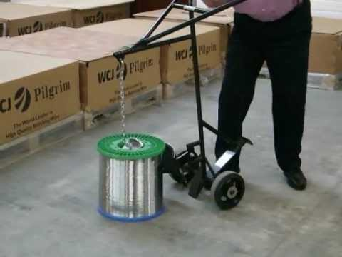 WCJ Worldwide -   D250 Spool Lifting Cart Demo