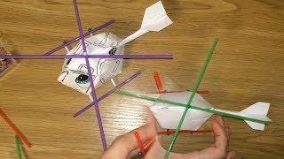 Как сделать вертолет из бумаги / Оригами вертолет своими руками(Хорошая игрушка вертолет из бумаги, которая делается очень просто и наверняка понравится вашему ребенку..., 2014-05-20T20:40:24.000Z)