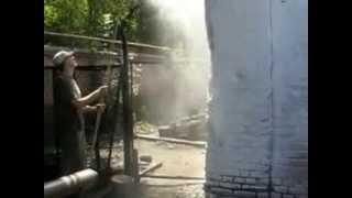 Видео побелки-3  с удочкой(Побелочно-окрасочный агрегат