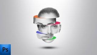 Разделенная голова | Уроки фотошопа | photoshop tutorials
