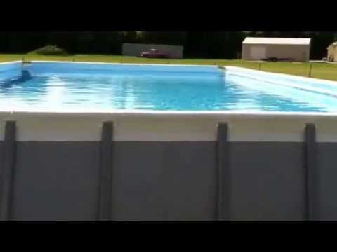 pool intex ultra frame 32x16x52 youtube. Black Bedroom Furniture Sets. Home Design Ideas