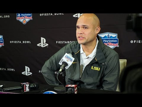 LSU Defensive Coordinator Dave Aranda talks about facing UCF in the Fiesta Bowl