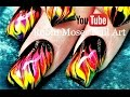 No Water Needed - HOT DIY Neon Marble Flames nail art Tutorial