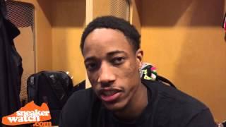 DeMar DeRozan on Favorite J's & Why He Wears Kobe's on the Court