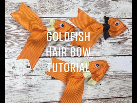 DiY Make Your Own Ribbon Gold Fish Hair Bow - Quick Easy Tutorial