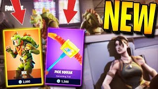 *NEW* REX SKIN + PICK SQUEAK (TOY) PICKAXE in FORTNITE: BATTLE ROYALE! | TBNRKENWORTH