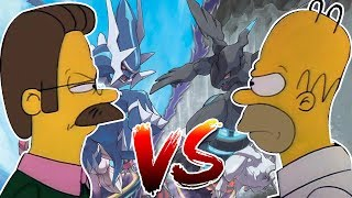 LOS SIMPSONS SON EPIC ENTRENADORES POKÉMON 😂🐶| LUCKY BLOCKS POKÉMON