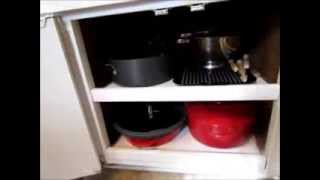 An Organized And Clutter-free Kitchen Part 6: Cabinets (dishes, Bakeware, Pots, And Pans