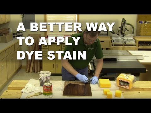A Better Way to Apply Dye to Your Woodworking Projects