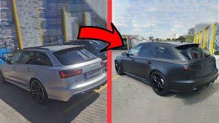 Облепяне на автомобил с фолио Audi RS6 Black Satin