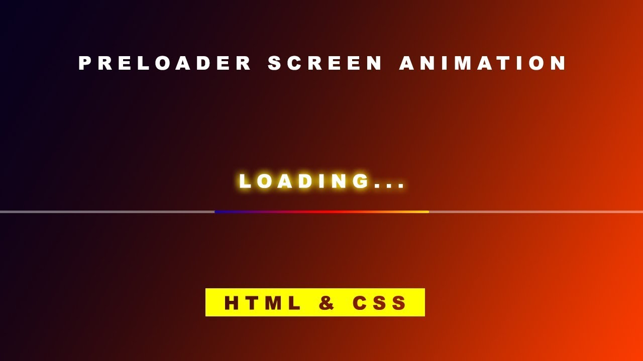 #preloader How to Create a Preloader Animation with CSS   #Loading #Line