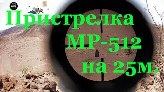 Пристрелка МР 512 Мурка на 25 м