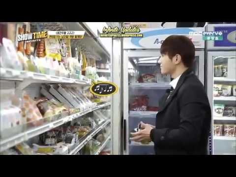 INFINITE L BUYING AND EATING TRIANGLE KIMBAP