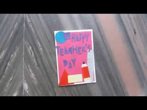 How to make Teacher's day card//simple and easy