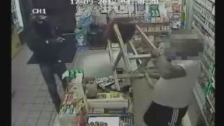 Shopkeeper Fights Off Armed Robber With Wooden Stool In London
