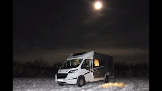Зимой на автодоме за полярный круг. Финляндия-Норвегия #лапландия #финляндия #кемпер