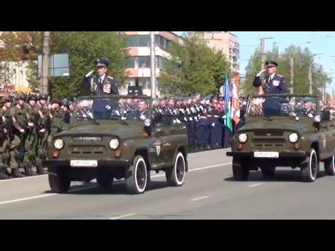 Парад 9 мая 2016 г  Иванове в честь 71 й годовщины Великой Победы в Великой Отечественной войне.