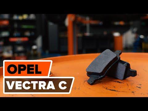 Hoe een voor remschijven, voor remblokken vervangen op een OPEL VECTRA C