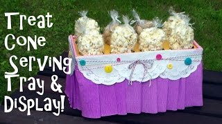 Diy Snow Cone And Favor Treat Cone Display And Serving Caddy