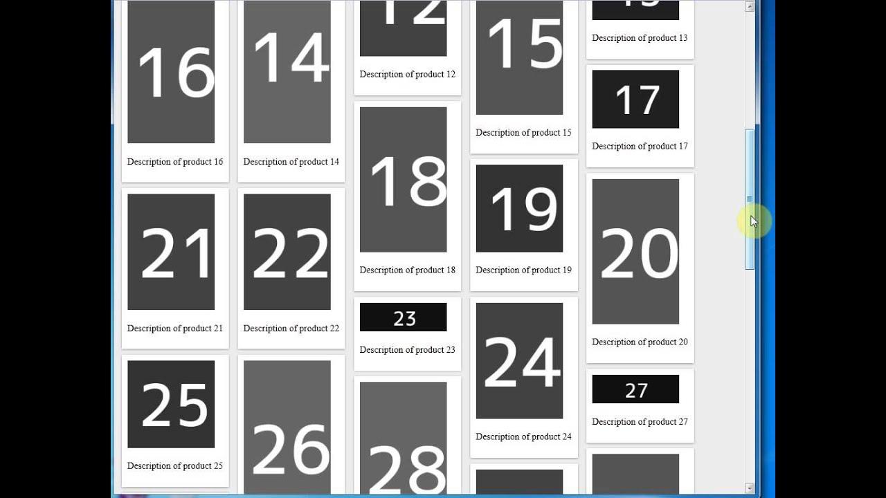 Creating a Pinterest Like Layout in ASP NET - TechBrij