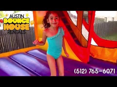 Thumbnail: Austin Bounce House Rentals - Inflatable Bounce/Slide Combo Water Slide - Kids Jumping Bouncing