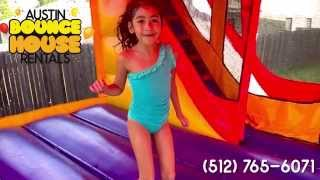 Austin Bounce House Rentals - Inflatable Bounce/Slide Combo Water Slide - Kids Jumping Bouncing
