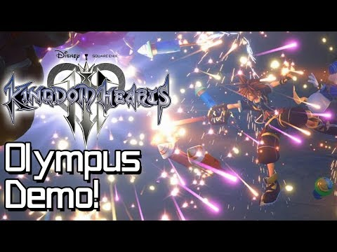 Kingdom Hearts 3 Premiere Demo - Olympus Hands-On Gameplay!