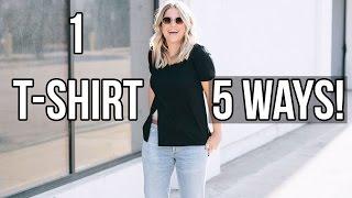 how to wear 1 shirt 5 ways