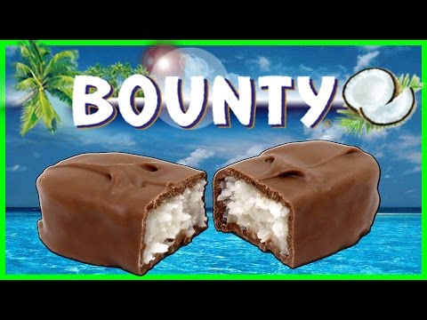 Bounty Chocolate Bar Unboxing