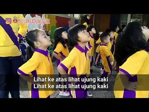 Lirik karaoke Senam sehat gembira untuk TK taman kanak-kanak Playgroup