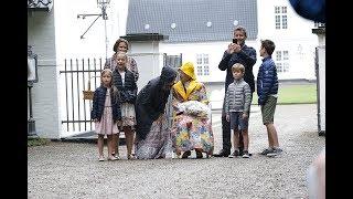 Danish Royal Family receive warm welcome in Gråsten