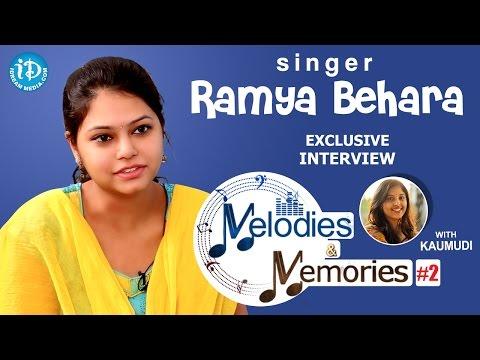 Singer Ramya Behara Exclusive Interview || Memories & Melodies
