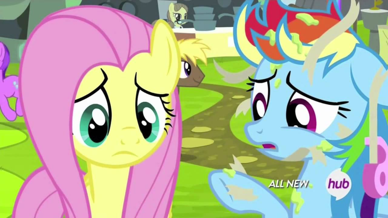 Fluttershy and Rainbow Dash repairing their chalice