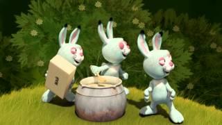 ҚАЗАҚША ЕРТЕГІЛЕР - Аю мен Қояндар. Медведь и зайцы - мультфильм