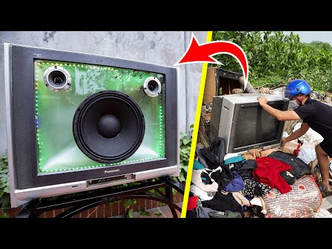 Recycle TV From Landfill Into Bluetooth Speaker