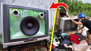 Reciclaje de televisión de los vertederos en Altavoz Bluetooth