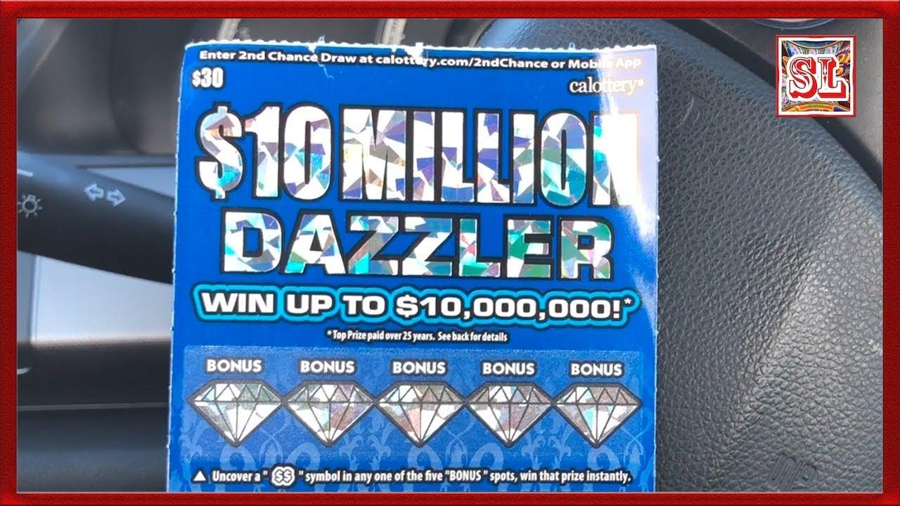 ** 10 Million Dazzler Lottery Ticket $30 Ticket ** SL's SCRATCHERS CHANNEL  **