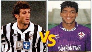 Ciro FERRARA VS Marcio SANTOS (1994) // Juventus x Fiorentina // Monsters Defenders