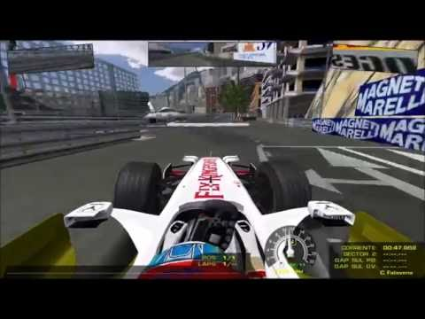 Monaco F1 2008 (RFactor) timed lap Force India OnBoard lap
